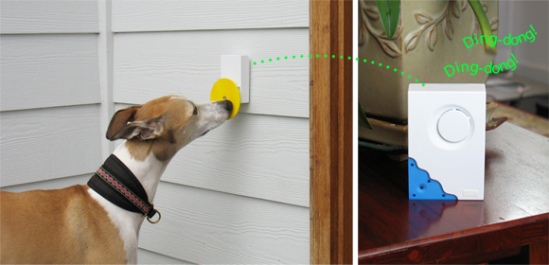Pebble Smart Doggie Doorbell: image via pebblesmart.com