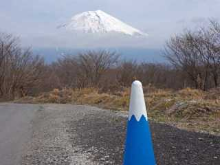 Japanese Cute Traffic Safety Cone mount fuji