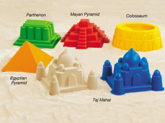World Landmarks and Architecture Sand Mold Set