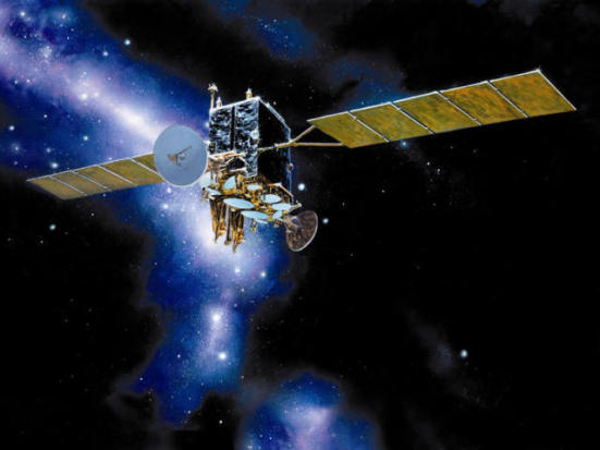 Satellite stations can look quite spectacular in space: image via Phonewirelessinternet.com