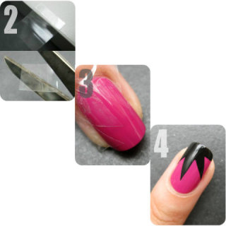 Scotch Tape Manicure (Courtesy Huff Post Style)