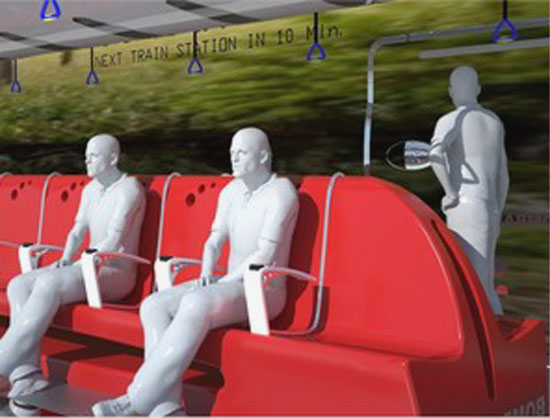 Inter Urban Eco Train comfortable seating:  Francisco Lupin
