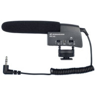 Sennheiser MKE 400 Shotgun Mic: Shotgun, or condensor, microphones are designed specifically for DSLR cameras.