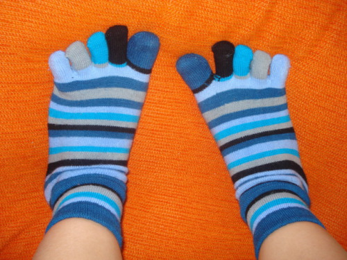 Stripy Blue Socks