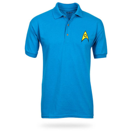 Star Trek Polo Shirt in Science Blue