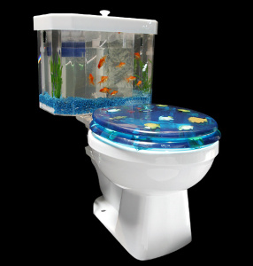 Fish-N-Flush Toilet