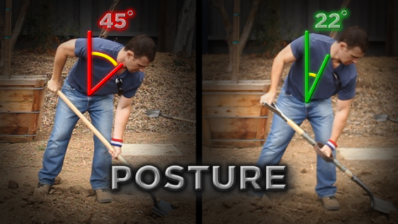 Erogonomic Shovel Posture
