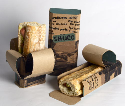 "Ana Gabriela's inventive ""Take Away"" cardboard food packaging concept (http://ow.ly/qERso)"