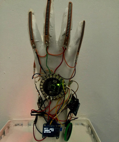 New smart glove designed to translate sign language to speech: Image by Hadeel Ayoub via Tumblr