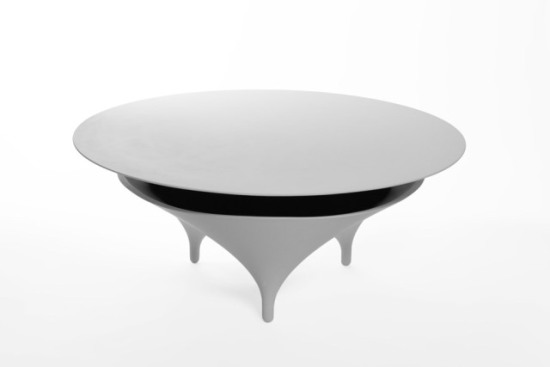 Acoustable, the acoustic table, designed by Jérôme Spriet et Wolfgang Bregentzer: ©Acoustable