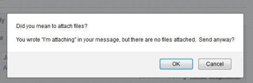 Gmail Attachment Dialog Box