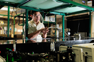 The Lab: Where Dr. Zhao creates his laser-y goodness.