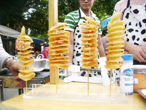Spiral potato stand: image via spiralpotatos.com
