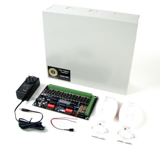 Model 2000 Stair Lighting Controller Kit: © Reactive Lighting