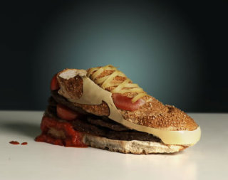 A complete contradiction: the sneaker-shaped burger