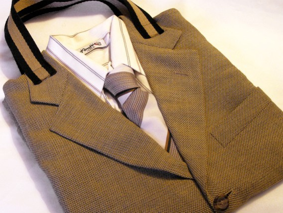 "Tailor Upcycled Suit Tote: By ""DandyFlorence"""