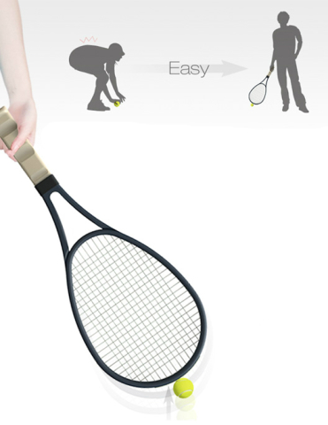 No Bending Required With Tennis Picker