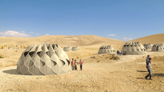 Collabsible Woven Dwelllings (Image via Abeer Seikaly)