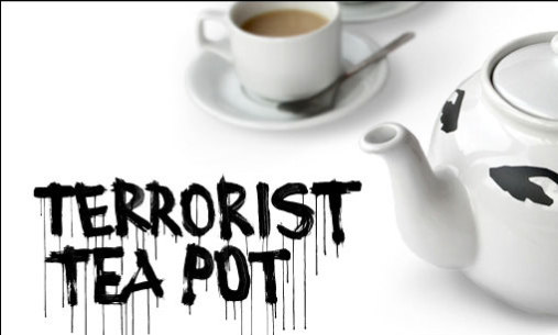 Terrorist Tea Pot tea cozy by Jackie Pipier: © Suck UK