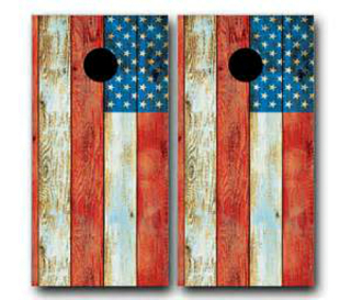 Distressed American Flag Cornhole