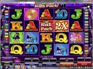 The Rat Pack Slot Machine: image via slotzs.com