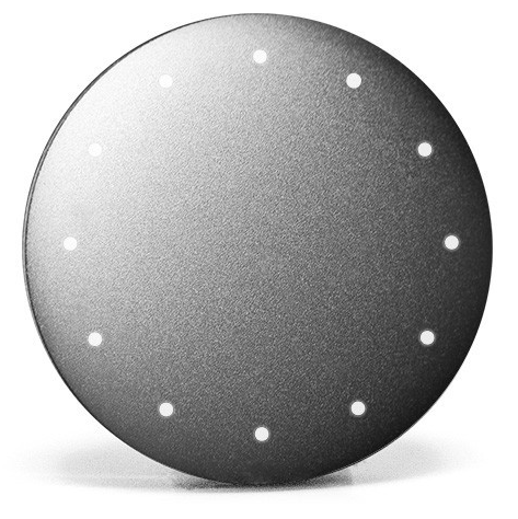 The LEDs double as a clock and activity tracker.