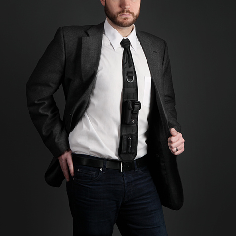 Tactical Necktie with Laser Pointer