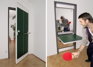 Flip Down Ping Pong Door