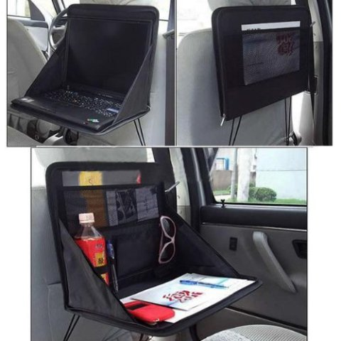 Travel Laptop Holders Keep You Organized: Turn your back seat into a mobile office