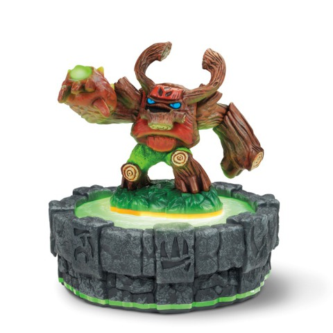 Tree Rex standing on the Skylanders Portal