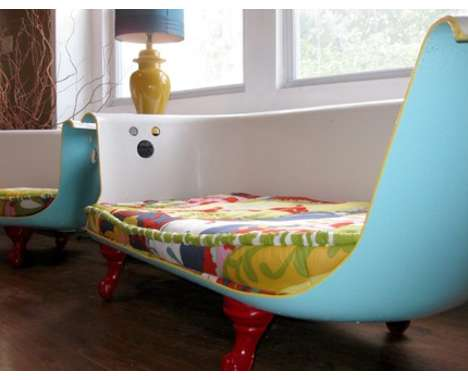 "Eco-Trend #9: Art and Design from Resued Items, such as this ""Tub Couch"""