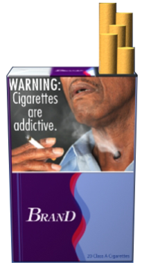FDA proposed cigarette package graphic.