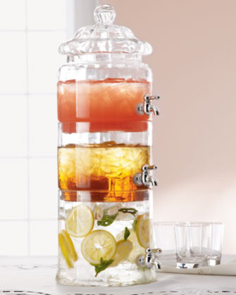 Triple Beverage Server with Optic Glass