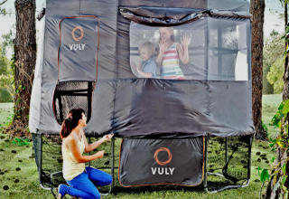 Vuly Tr&oline Tent & Create A Moon Jump For The Kids With The Vuly Trampoline Tent