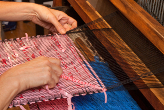 The Handweaving Process Used for making Sheila Odyssey's Purses