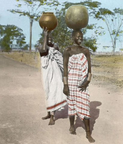 African Women Carrying Water (circa 1910) (Public Domain Image)