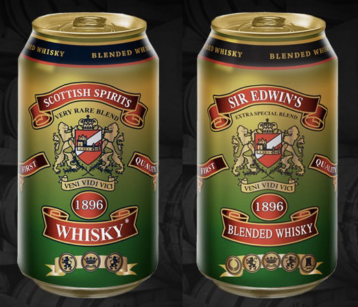 Scottish Spirits Blended Whiskey in a can for the first time.