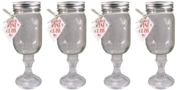 Set of Four Redneck Wine Glasses
