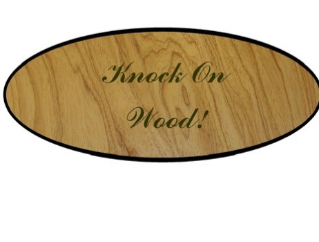 """Knock on Wood"" Plaque on Quirky.com"