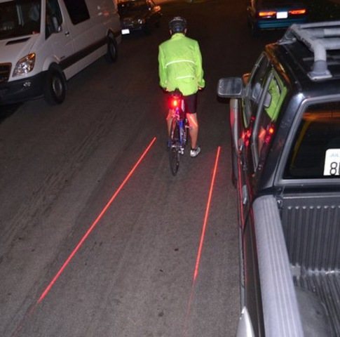 XFire Laser Bike Lane In Traffic