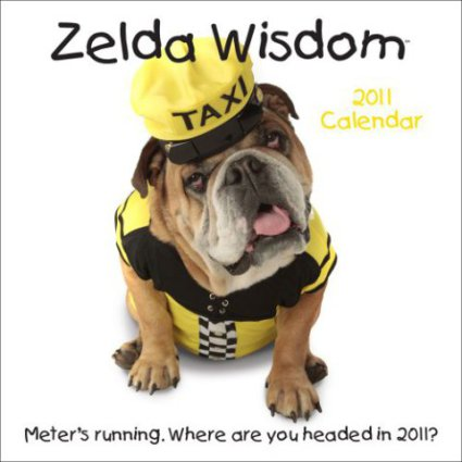 Zelda Wisdom 2011 Dog Wall Calendar