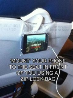 Ziplock Bag As Electronic Device Holder