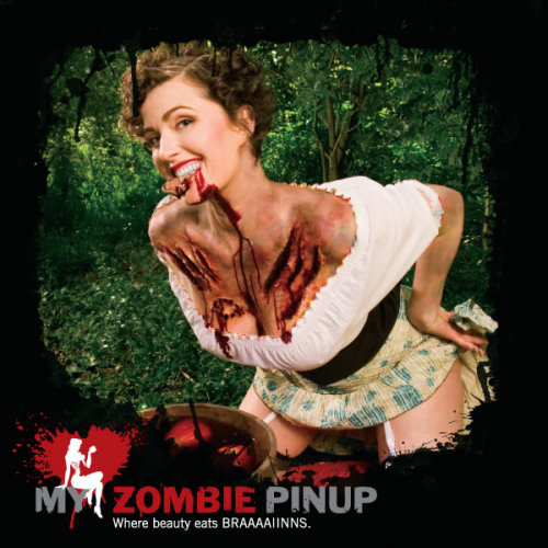 pin up zombie makeup. Best Zombie Pin-up 2009