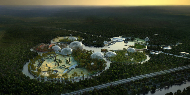 Winning Zoological Park Design for St. Petersburg Russia: Photo via Artefactory for TN Plus & Beckmann N'Thépé