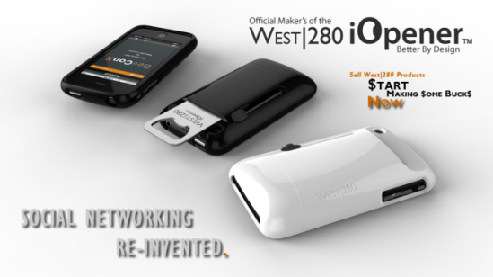 The West/280 iOpener 3G/3GS comes in Piano Black and Bright White: ©West280